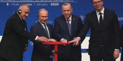 الاقتصاد اليوم08.01.2020 إردوغان وبوتين دشّنا خطّ «تورك ستريم» لنقل الغاز إلى تركيا وأوروبا