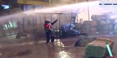 لبنان:جلسة ٌ اسمنتية بوجه خراطيم المياه