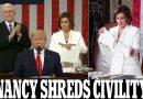 نانسي تمزق خطاب ترامب : ليلة لاتنسى وحرب مفتوحة بين رئيس مجلس النواب والرئيس ترامب