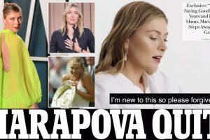 شارابوفا تعتزال وتشتاق إلى ربط حذائها.. جميلة جميلات التنس تودع الملاعب.. بعد 28 عاماً وخمسة ألقاب كبيرة وتعاطي منشطات