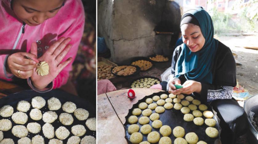 «عزلة كورونا» توقد ألافران لصنع «معمول وكعك العيد»