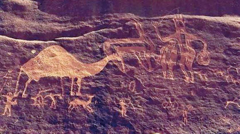 لوحة صخرية فنية في «نجران» تعود إلى القرن الثاني قبل الميلاد