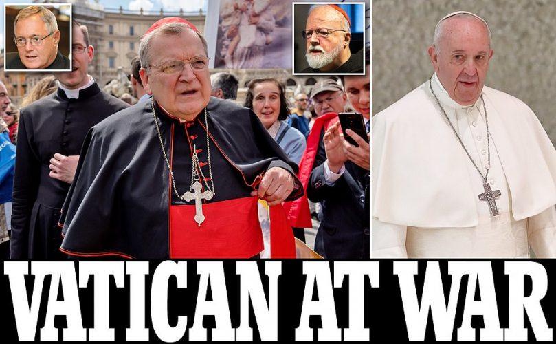 """حرب الفاتيكان وارتباك في الكنيسة الكاثوليكة :الكاردينال ريمون بيرك:""""الرأي الخاص"""" للحبر الأعظم لا """"يتوافق مع تعاليم الكنيسة"""""""