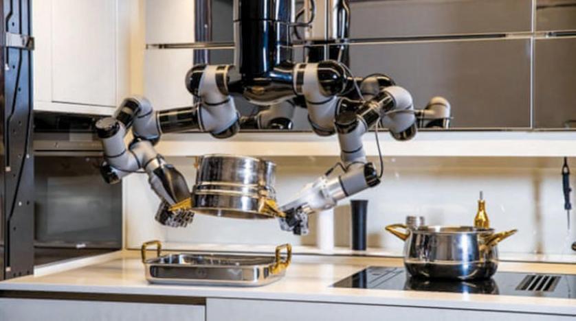 بكبسة زر... مطبخ آلي يعد الطعام ويغسل الصحون و متحجرة نمر سيفي للبيع في مزاد بجنيف