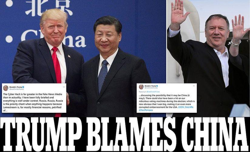ترامب يتهم الصين  ويبرء روسيا
