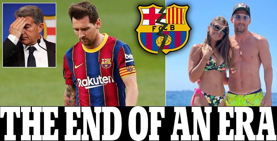 ميسي يغادر برشلونة بسبب'العقبات الاقتصادية' والـ بي آس جي سيكون الخيار الاول