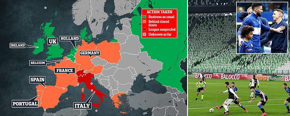 «كورونا» تغير خريطة مباريات كرة القدم حول العالم