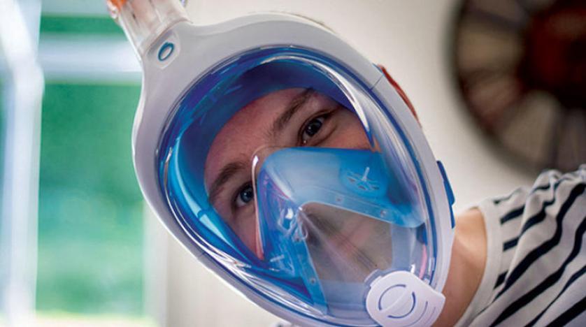 أطباء فرنسيون يستعينون بأقنعة الغوص لنجدة المرضى