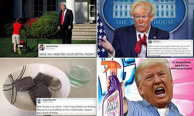ترامب ينصح شرب مطهرات وحقنها بالأجسام لمكافحة كورونا.. وأطباء: هذا صادم وخطير!
