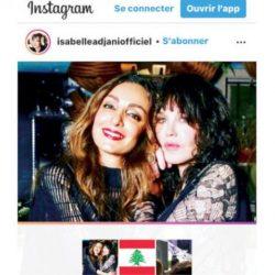 إيزابيل أدجاني تبكي صديقتها هالة طياح ضحية «انفجار بيروت»
