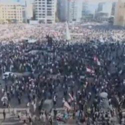 """تظاهرات """"يوم الحساب"""" في ساحة الشهداء بيروت"""