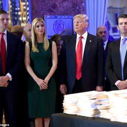 """إيفانكا """"دونالد الصغير"""" وإريك """"المعتوه"""".. فضيحة جديدة داخل عائلة ترامب"""