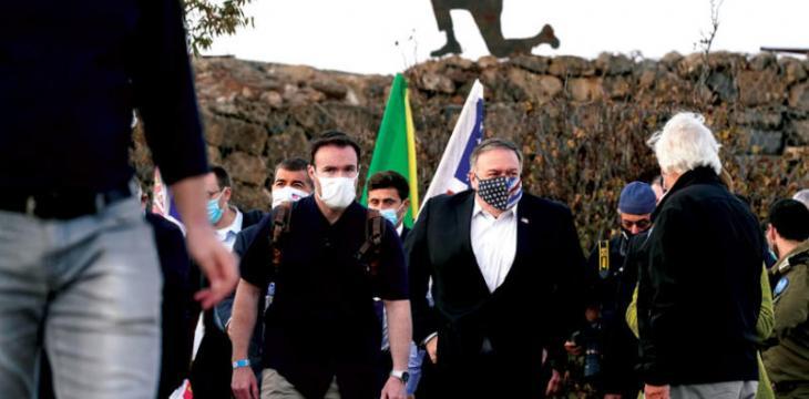 صحف ومستجدات اليوم:بومبيو يزور الجولان ويطرح «مخاطر» إعادته لسوريا ومحمد صلاح و النني إلى لندن, وفي العراق قيس الخزعلي: الهدنة مع الأمريكيين انتهت