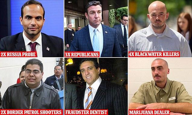 ترامب يصدر موجة جديدة اضافة ل15 عفواً لثلاثة أعضاء جمهوريين في الكونغرس وعن شخصين أدينا بالكذب على مولر و4حراس (بلاك ووتر) قتلوا 17عراقياً