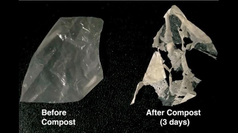 بلاستيك قابل للتحلل بالحرارة والماء
