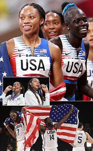 أمريكا على رأس الدول في طوكيو : فريق الولايات المتحدة الأمريكية يهزم الصين 113 ميدالية --
