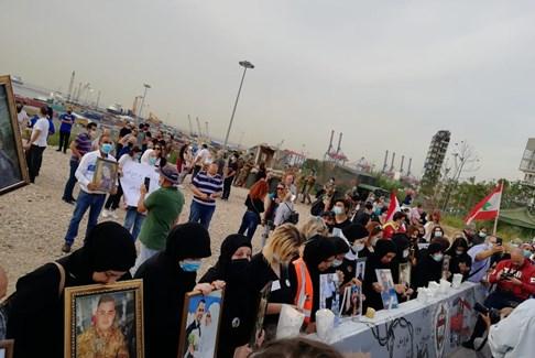 لبنان:أهالي الضحايا يعتصمون أمام قصر العدل